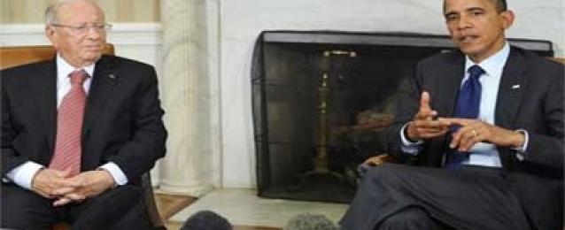 """أوباما يؤكد للسبسي """"دعم"""" الولايات المتحدة لتونس في مواجهة الإرهاب"""