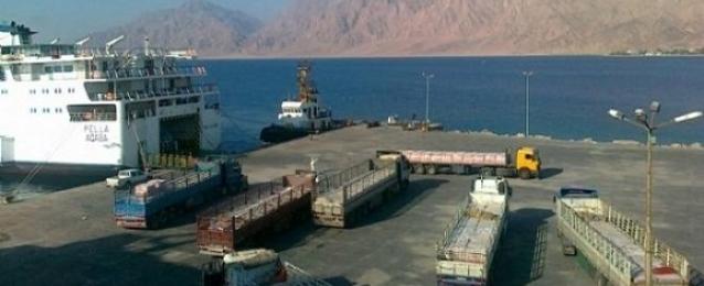 إعادة فتح ميناء نويبع امام حركة الملاحة البحرية بعد تحسن الاحوال الجوية