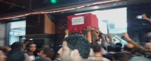 تشييع جثمان أحد قضاة ضحايا حادث شمال سيناء