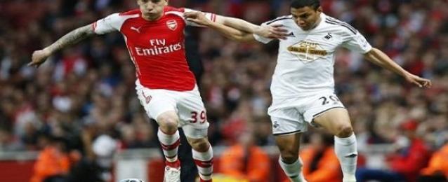 سوانزي يهزم أرسنال بهدف في الدوري الإنجليزي