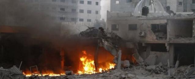 غارات اسرائيلية مكثفة على غزة ردا على الصواريخ الفلسطينية