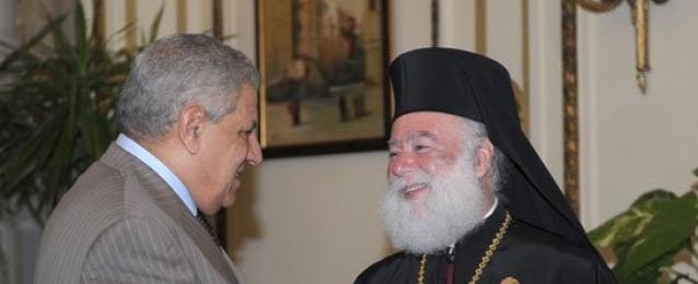 محلب يلتقى بابا الإسكندرية وسائر أفريقيا للروم الأرثوذكس