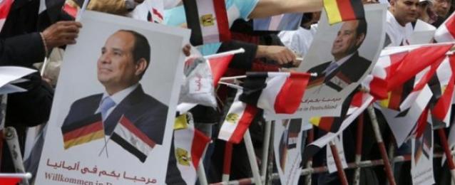 وقفات الجاليات المصرية في برلين لتأييد السيسي