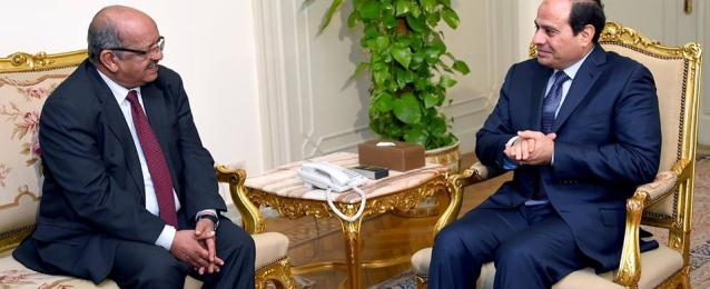 الرئيس عبد الفتاح السيسي يلتقي  وزير الشئون المغاربية والاتحاد الإفريقي وجامعة الدول العربية الجزائري
