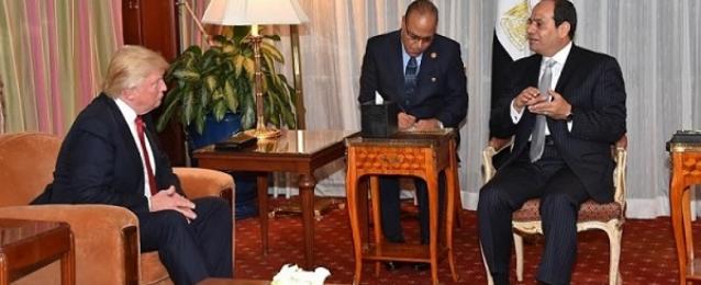 الرئيس عبد الفتاح السيسي يهنيء دونالد ترامب  هاتفيا بانتخابه رئيسا للولايات المتحدة