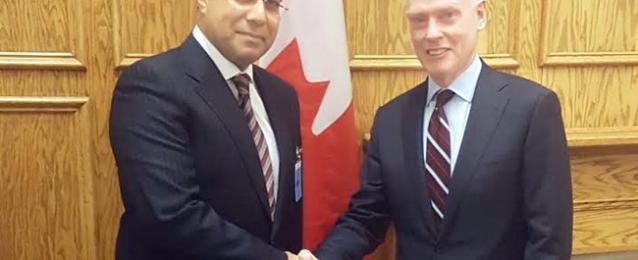 أبو زيد يلتقي مستشار رئيس الوزراء الكندي للشئون الخارجية والدفاعية