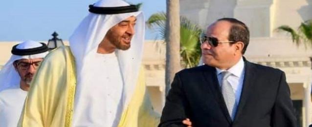 الرئيس السيسي يستقبل ولي عهد أبو ظبي اليوم