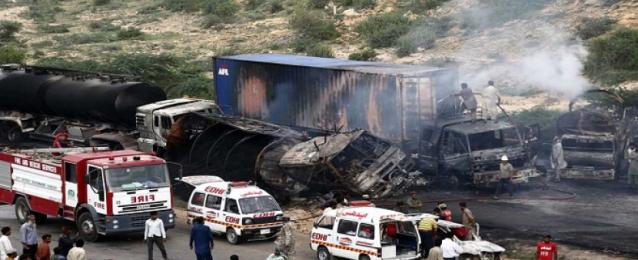 مصرع وإصابة 18 شخصًا جراء اصطدام 3 حافلات ركاب بإقليم بلوشستان الباكستاني