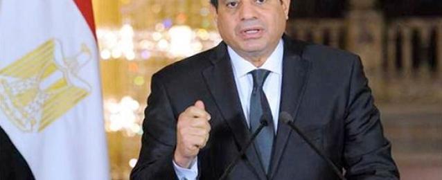 الرئيس يشهد حلف أداء اليمين لرئيس لمحكمة الدستورية العليا