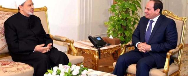 شيخ الأزهر يهنئ الرئيس السيسي بذكرى المولد النبوي الشريف