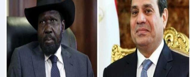 الرئيس السيسي يتلقي اتصالاً هاتفياً من الرئيس سلفا كير، رئيس جمهورية جنوب السودان