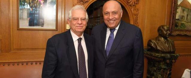 شكري و بوريل يبحثان هاتفياً القضايا المشتركة بين مصر والاتحاد الاوروبى