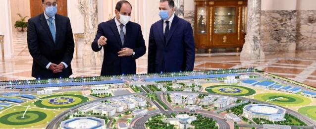 بالصور.. الرئيس السيسي يستعرض مخطط إعادة تأهيل وتطوير منشآت وزارة الداخلية