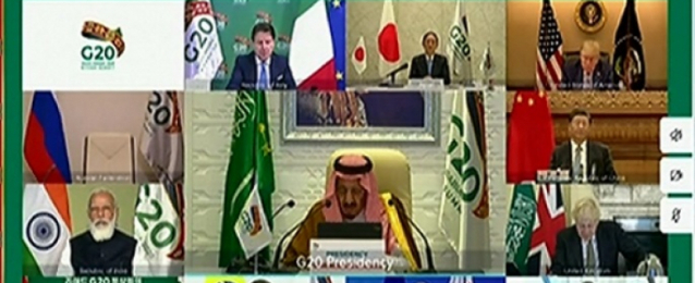 """خلال قمة """"G 20"""" .. الملك سلمان : جائحة كورونا تسببت بخسائر اقتصادية كبيرة وشكلت أزمة غير مسبوقة للعالم"""