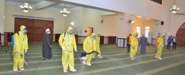 انطلاق حملة الأوقاف لنظافة وتعقيم المساجد استعدادا للشهر الكريم