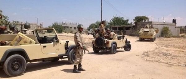 إصابة 5 جنود في حادث انقلاب سيارة بوسط سيناء